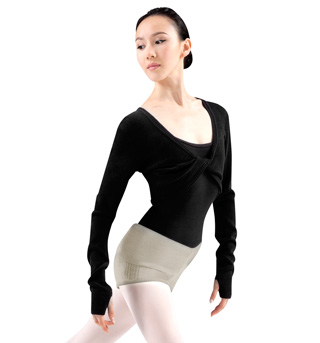 Adult Twist Front Long Sleeve Knit Shrug - Style No Z6509