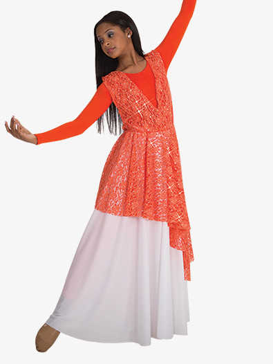 Girls Single Layer Worship Circle Skirt - Style No 0501