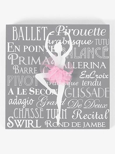 Ballerina Tutu Plaque - Style No 10848