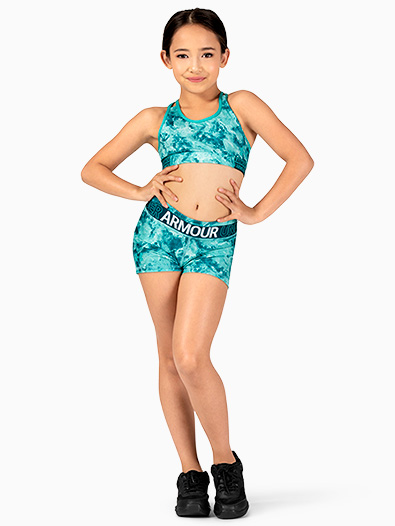 Girls HeatGear Graphic Print Running Shorts - Style No 1305643