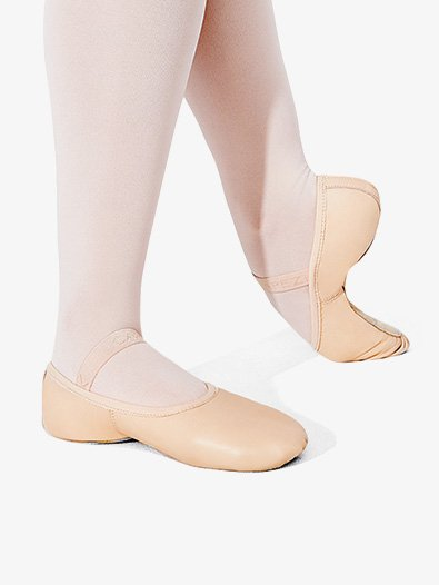Girls Full Sole Leather Ballet Slipper - Style No 212C