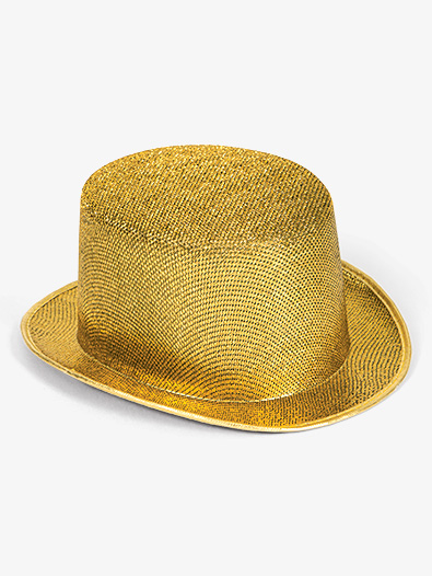 12-Pack Glitter Top Hats - Style No 22750