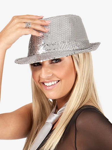 12-Pack Sequin Fedora Hats - Style No 24100