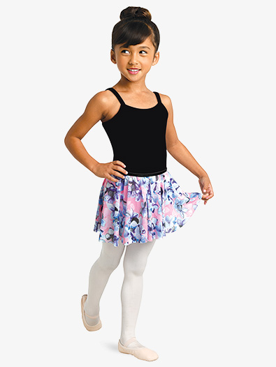 Girls Floral Print Pull-On Ballet Skirt - Style No 2750C