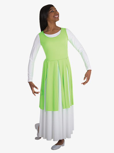 Adult Plus Size Single Layer Worship Circle Skirt - Style No 501XX