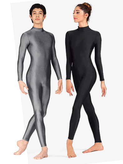 Adult Unisex Mock Neck Long Sleeve Unitard - Style No 8815