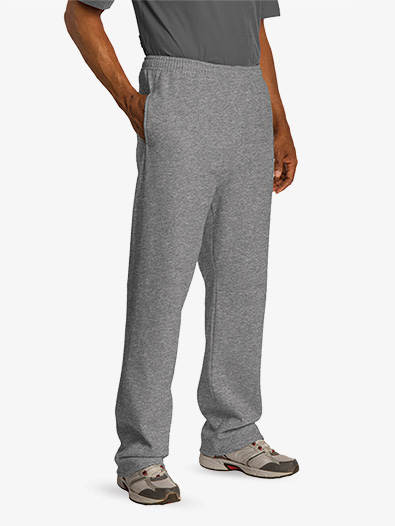 Open Bottom Sweatpant With Pockets - Style No 974MP
