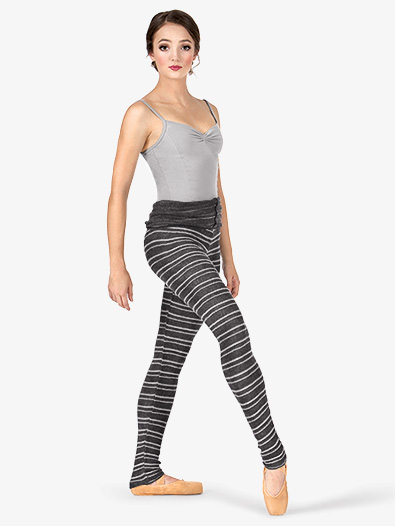 Adult Stripe Knit Roll Down Warm Up Pants - Style No AL114198