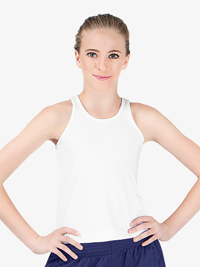 Ladies Plus Size Solid Racerback Tank Top - Style No AUG1202P