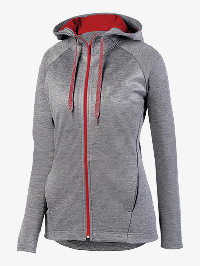 Womens Heather Hooded Active Jacket - Style No AUG5558E