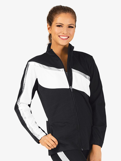 Ladies Brushed Tricot Zip Up Jacket - Style No AUG7735