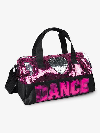 Flip Sequin Heart Dance Duffle Bag - Style No B842