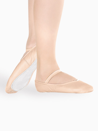 Girls Leather Full Sole Ballet Shoes - Style No BA90C