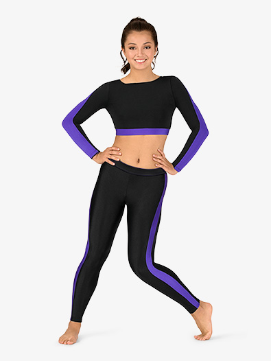 Womens Plus Size Team Two-Tone Compression Leggings - Style No BT5220P