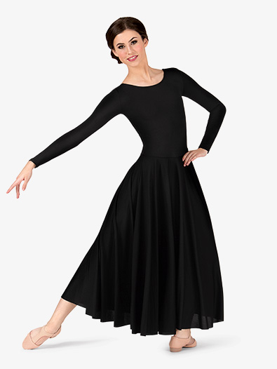 Womens Worship Long Sleeve Dance Dress Balletlyrical Body