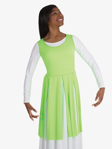 Womens Plus Fly-Away Panel Worship Tunic - Style No BW608XX
