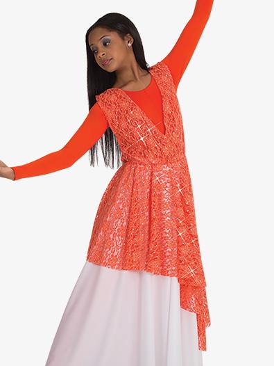 Womens Plus Asymmetrical Lace Worship Overlay - Style No BW626XX