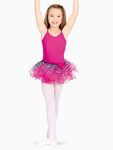 Child Sequin Trim Zebra Tutu - Style No C28221