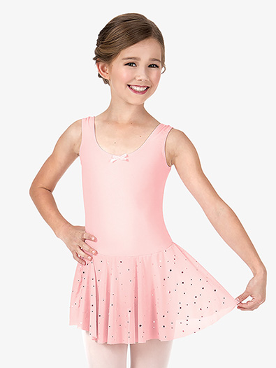 Girls Star Mesh Dance Dress - Style No C28478