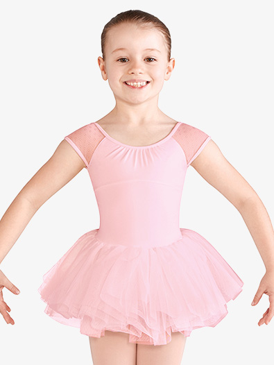 Girls Daisy Mesh Short Sleeve Ballet Tutu Dress - Style No CL9962