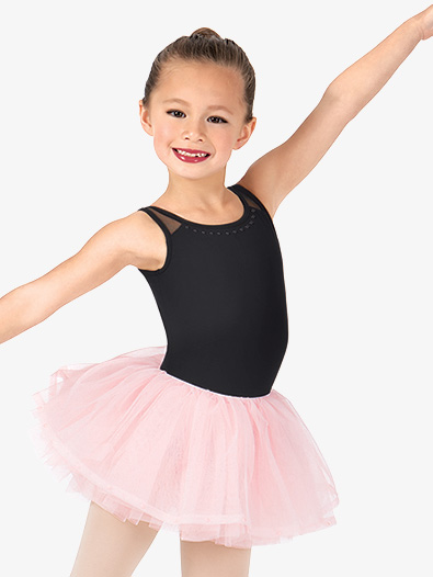 Girls Studded Pearl Back Tutu Dress - Style No CR5681