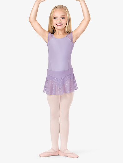 Girls Sheer Heart Mesh Ballet Skirt - Style No CR9351