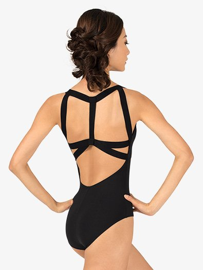Womens Strappy Back Tank Leotard - Style No D2700A