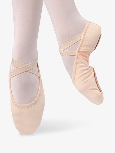 Girls Canvas Split Sole Ballet Shoes - Style No D496