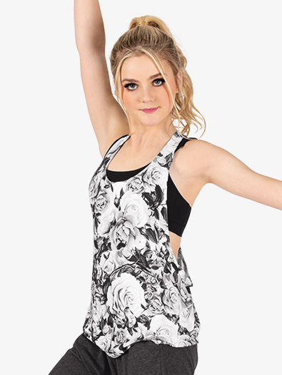 Womens Sublimated Floral Rope Back Active Tank Top - Style No DS2972
