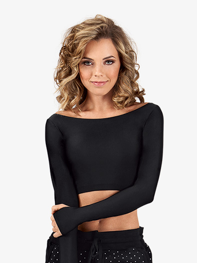Adult Long Sleeve Crop Top - Style No DS457B
