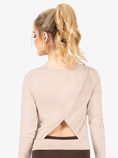 Womens Triangle Back Warm Up Sweater - Style No DSJ1345