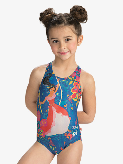Girls Disney Elena Flower Power Leotard - Style No DSY128C