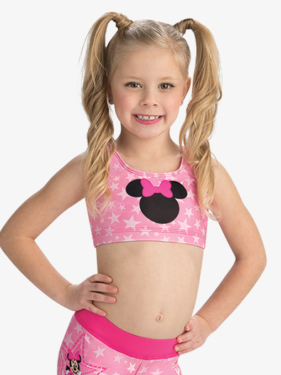 Girls Disney Starring Minnie Mouse Crop Top - Style No DSY146C