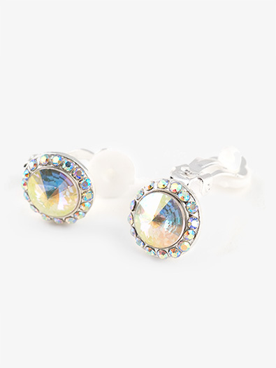 Iridescent Stone 18mm Clip Earring Style No Ec12ai
