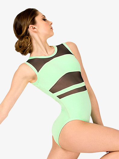 Womens Strappy Back Tank Leotard - Style No ELA25