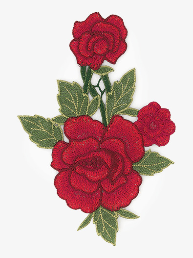 DIY Rosebud Embroidered Applique - Style No ERA1