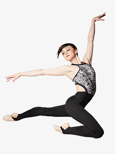 Womens Lily Printed Mesh Dance Unitard - Style No FM5055