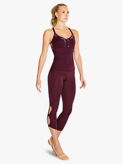 Womens Keyhole 7/8 Dance Leggings - Style No FP5101