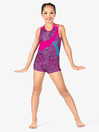 Girls Animal Print Gymnastics Shorts - Style No FS3233C