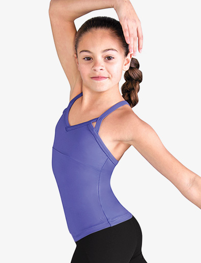 Girls Daisy Mesh Dance Camisole Top - Style No FT5066C