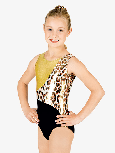 Child Block Tank Leotard - Style No G519C