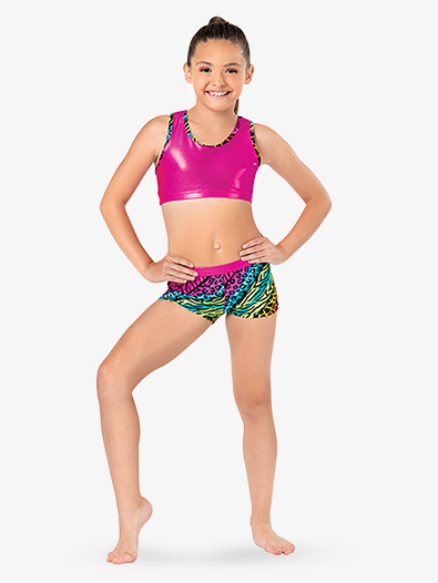Girls Jungle Mania Gymnastics Shorts - Style No G621C