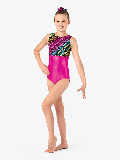 Girls Jungle Mania Gymnastics Tank Leotard - Style No G622C