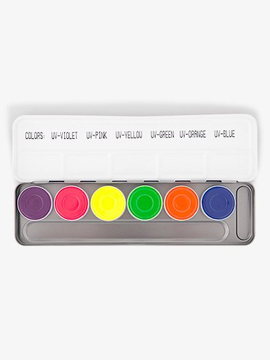 Aquacolor UV Dayglow Water Color Palette - Style No K5177x