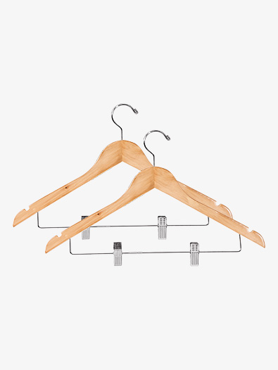 2-Pack Wooden Hangers - Style No KWH1731NC