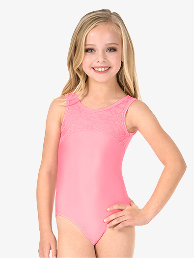 Girls Heart Cutout Back Lace Tank Leotard - Style No L5001
