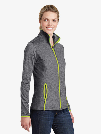 Ladies Full Zip Contrast Jacket - Style No LST853