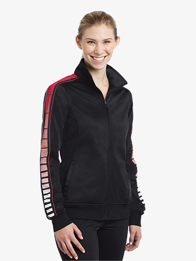 Ladies Dot Sublimation Tricot Track Jacket - Style No LST93