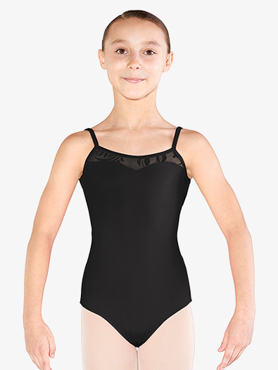 Girls Glitter Mesh X-Back Camisole Leotard - Style No M1218C