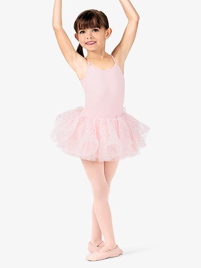 Girls Hologram Sequin Wired Hem Tutu Ballet Skirt - Style No M433C